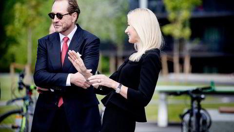 Kjell Inge Røkke og kona Anne Grete Eidsvig har hentet ut 3,4 milliarder kroner fra holdingselskapet TRG siste åtte år. Foto: Ida von Hanno Bast