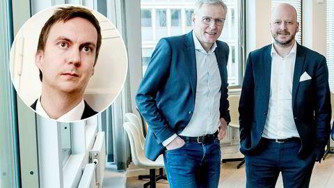 Fra venstre Ole Berget (innfelt), Per Høiby og Sigbjørn Aanes.