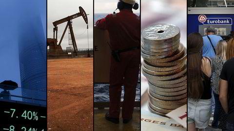 Børskrakket i Kina, oljeprisfallet, oljesmellen, kronestupet og gjeldskrisen i Hellas er blant hendelsene som har preget 2015. Foto: