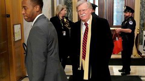 Nasjonal sikkerhetsrådgiver John Bolton var i godt lune da han ankom Capitol Hill i Washington onsdag. Men han har sender ingen gode ønsker til regimet i Venezuela.
