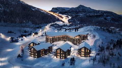 Fyri Resort i Hemsedal åpnet rett før korona, og har holdt åpent gjennom vinteren. Nå stenges hotellet før påske grunnet nye Viken-restriksjoner. Illustrasjon: Fyri Resort