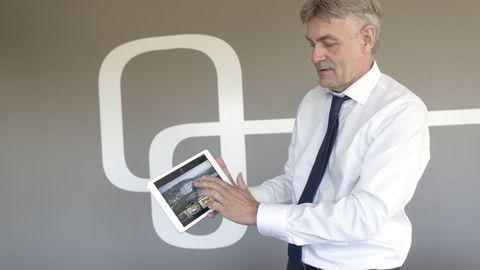 Get-sjef Gunnar Evensen, som jobbet i telekombransjen før Get, har lansert egne mobilabonnementer i samarbeid med Telia. Foto: Elin Høyland