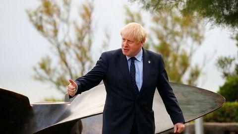 Storbritannias statsminister Boris Johnson i Biarritz i Frankrike i forbindelse med G7-møtet. Ifølge den britiske avisen Observer har Johnson bedt om juridisk rådgivning for å finne ut om det er mulig å stenge Parlamentet før brexit. Foto: AP / NTB scanpix