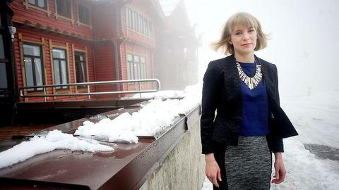 Kari Elisabeth Kaski begynner valgkampen allerede nå. Selv har hun gode sjanser til å komme inn på Stortinget fra Oslo.