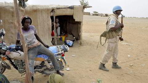 Fredsbevarende FN-styrker er en historisk suksess. Ett eksempel er volden i Mali, som ville vært mye mer brutal uten FNs nærvær. Foto: Alou Sissioko, AFP/NTB Scanpix