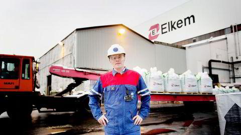 Administrerende direktør i Elkem Solar, Inge Grubben-Strømnes, kjøper konkursboet etter REC på Herøya og skaper 80 nye arbeidsplasser. Foto: