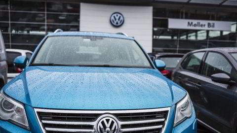 Volkswagen-forhandlerne faller på Norsk Kundebarometer etter fjorårets dieseljuks-avsløringer.  Illustrasjonsfoto: Per Thrana