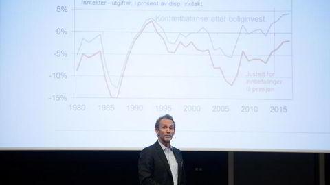 Sjeføkonom Harald Magnus Andreassen i Swedbank. Foto: Mikaela Berg