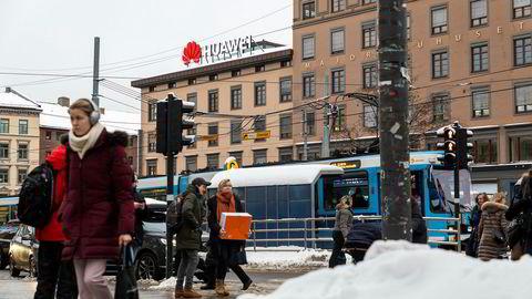 Vekst. I Norge har Huawei på litt over ti år gått fra null til milliardomsetning og fått en sentral plass både i samfunnet og i bybildet.