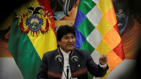 Bolivias president vil fortsatt være Evo Morales.