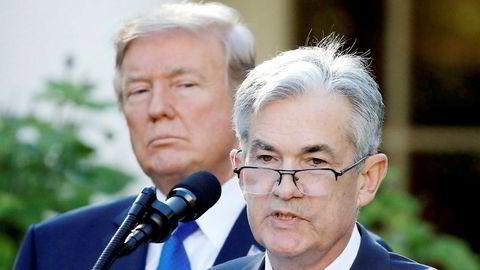 President Donald Trump og sentralbanksjefen Jerome Powell.