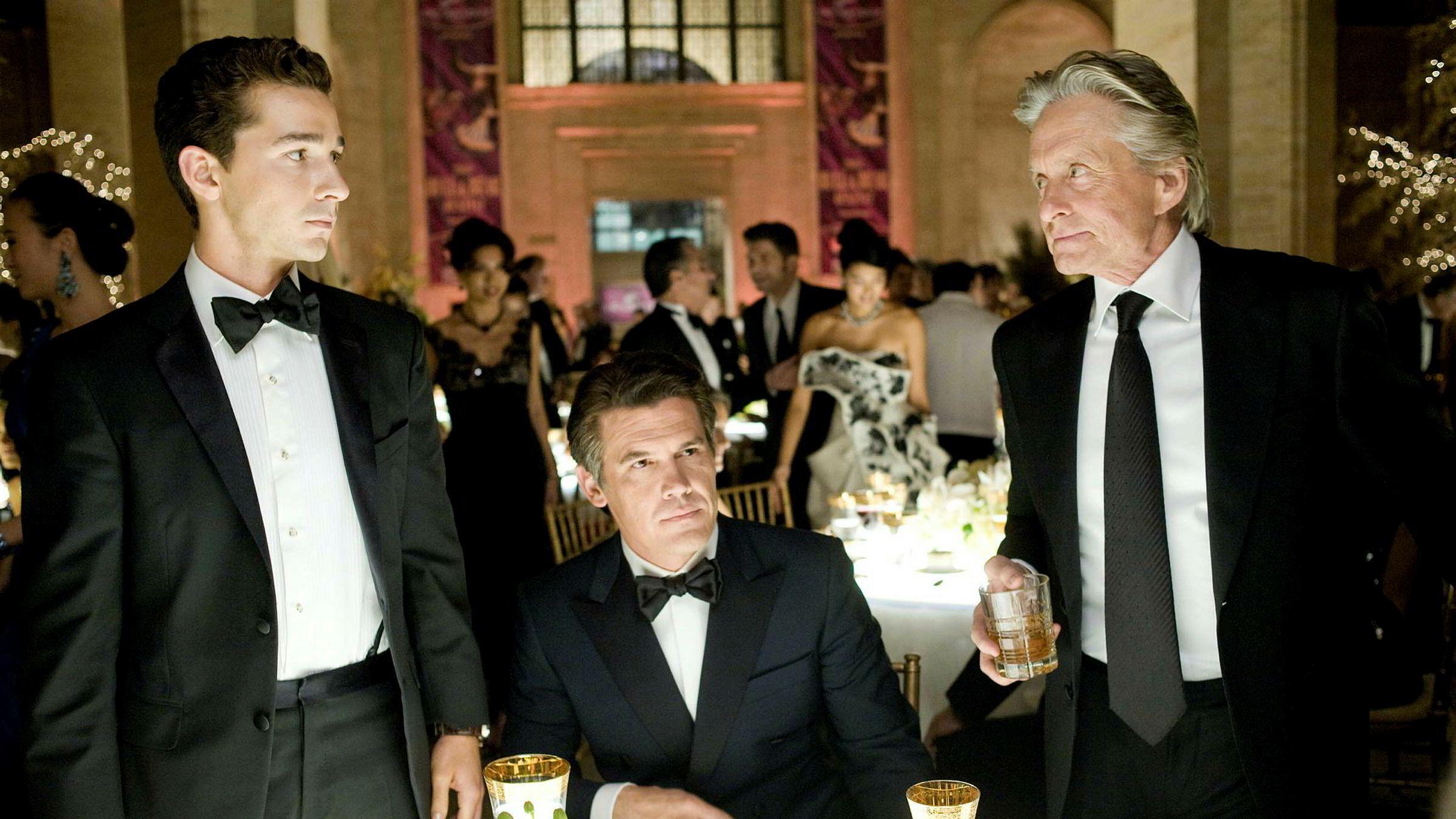 Is greed good? Ikke alle finansfolk greier å skape mening i det de driver med, slik Gordon Gekko (til høyre), spilt av Michael Douglas, fikk til i filmene «Wall Street» og «Wall Street: Money Never Sleeps»