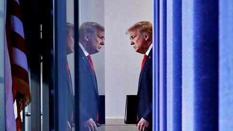 President Donald Trump gir det kinesiske selskapet Bytedance 90 dager på å kvitte seg med data fra Tiktok.