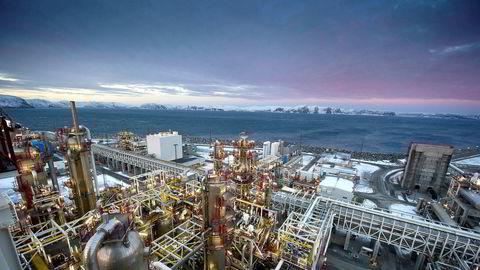 Melkøya tar imot gass fra Snøhvit-feltet i Nordsjøen.
