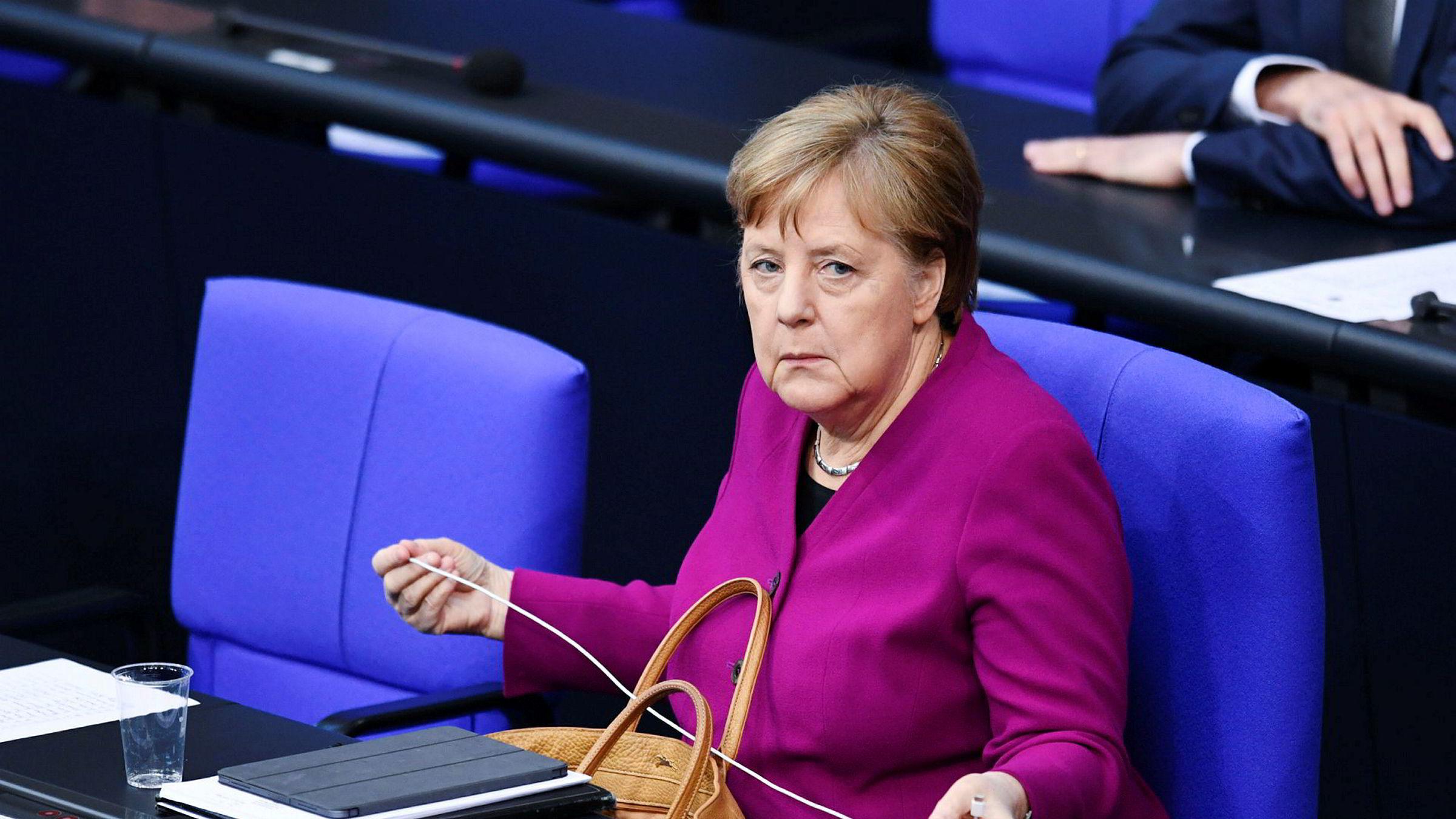 Koronaens konsekvens er mer europeisk integrasjon, mener Tysklands forbundskansler Angela Merkel.
