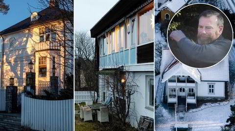 Kjell Kristiansen (58) har ingen ligningsinntekt og knapt noen formue. Likevel har han kjøpt og forsøkt å kjøpe villaer på noen av Oslos dyreste adresser. Eiendommene på bildet er i dag eid av andre personer.