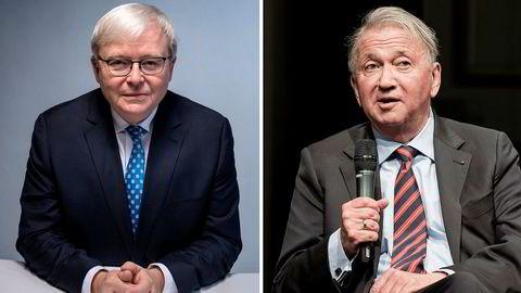 Terje Rød-Larsen (til høyre) gjorde ikke som styreleder Kevin Rudd ønsket.