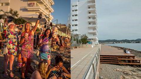 God og dårlig stemning på Café del Mar på Ibiza i henholdsvis 2017 og 2020. Hva vil skje med chillout-musikken og ikke minst dj-partyøya, som i fjor sommer var besøkt av tre millioner turister?