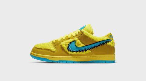 Ut på sopptur. Skjulte lommer, lyn-swoosh og lysergiske lisser: Nikes Grateful Dead-sko tripper godt.