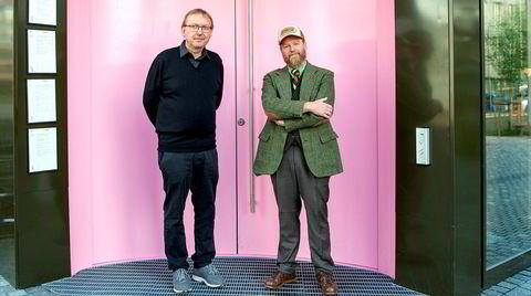 Av alle psykolog Rolf Marvin Bøe Lindgren (til venstre) har personlighetstestet, er Petter Schjerven den som kommer nærmest gjennomsnittet. Nå har de skrevet bok sammen om nettopp personlighet.