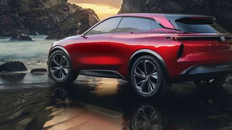Mangel på dørhåndtak og minimale sidespeil er noen av stikkordene for Buick Enspire.
