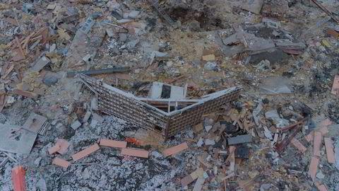 Store ødeleggelser på Ask i Gjerdrum kommune etter at et leirskred ødela flere boliger onsdag 30. desember. Ti personer mistet livet i skredet.
