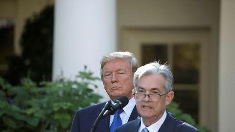 Sentralbanksjef Jerome Powell hudflettes jevnlig av president Donald Trump.
