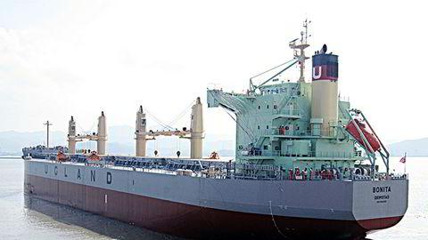 Ni besetningsmedlemmer fra det norske skipet Bonita som er eid av Ugland-rederiet, ble kapret utenfor Benin i Vest-Afrika. (Foto: Pressefoto)