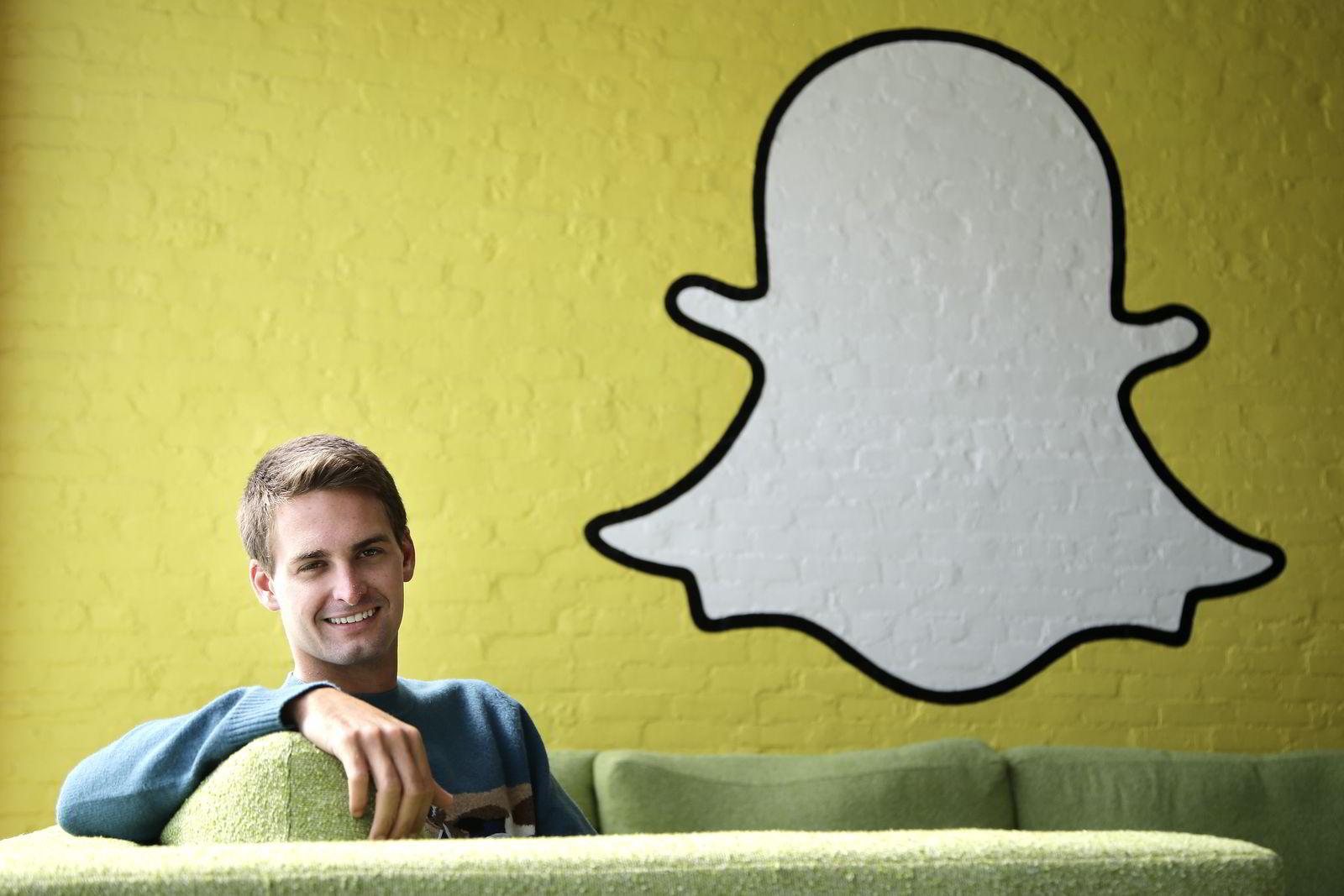 Snapchat-gründer Evan Spiegel.