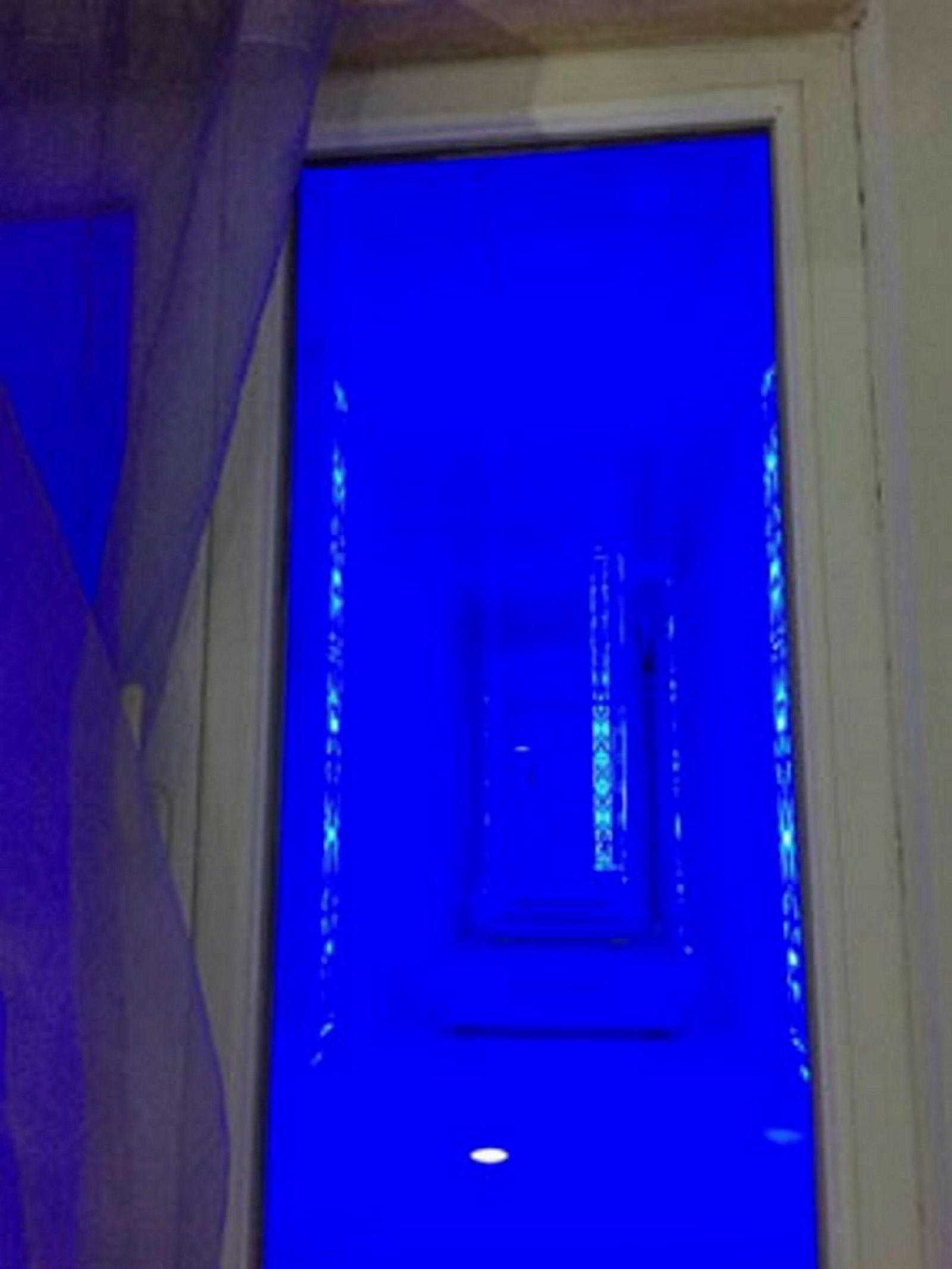 Utsikten fra rommet i annekset.