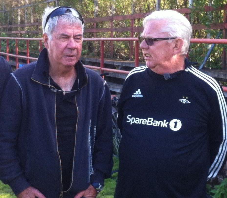 Egil «Drillo» Olsen og Nils Arne Eggen møtte tirsdag opp på Voldsløkka til innspilling av reklamefilm for Josimar.