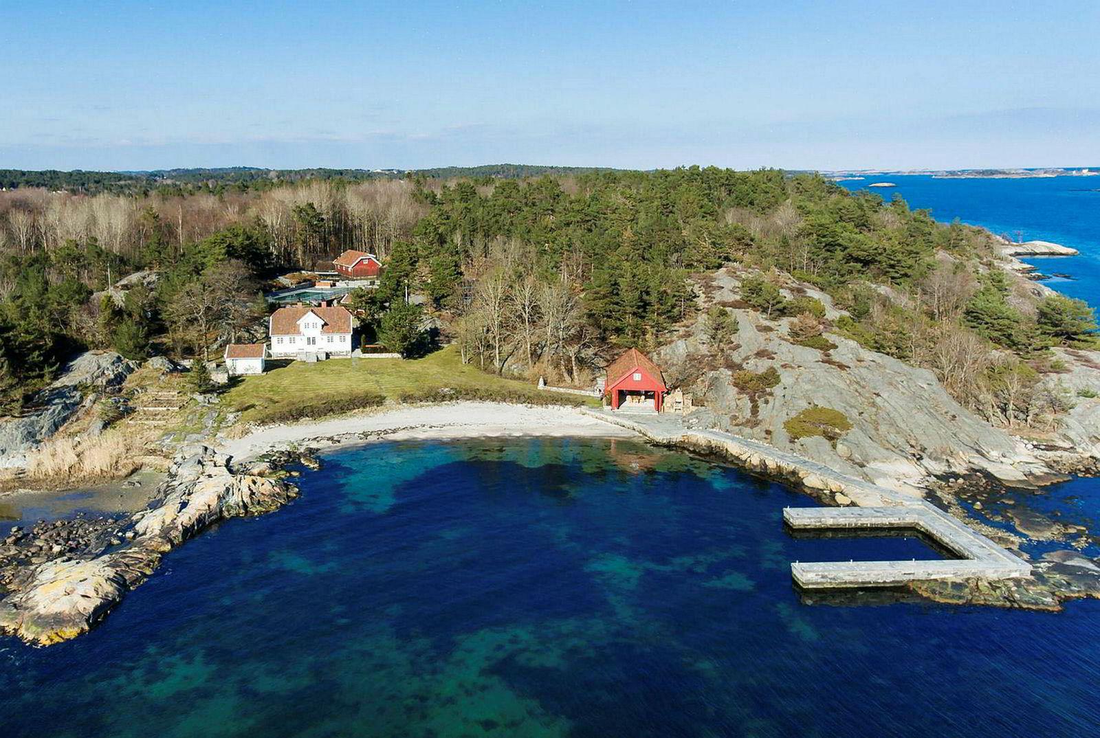 Einar Aas fikk 32 millioner kroner for eiendommen «Vragviga» i Grimstad.