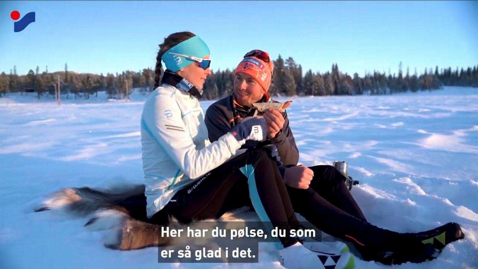 Emil Iversen og kjæresten har stilt opp i seks reklamefilmer for Intersport.