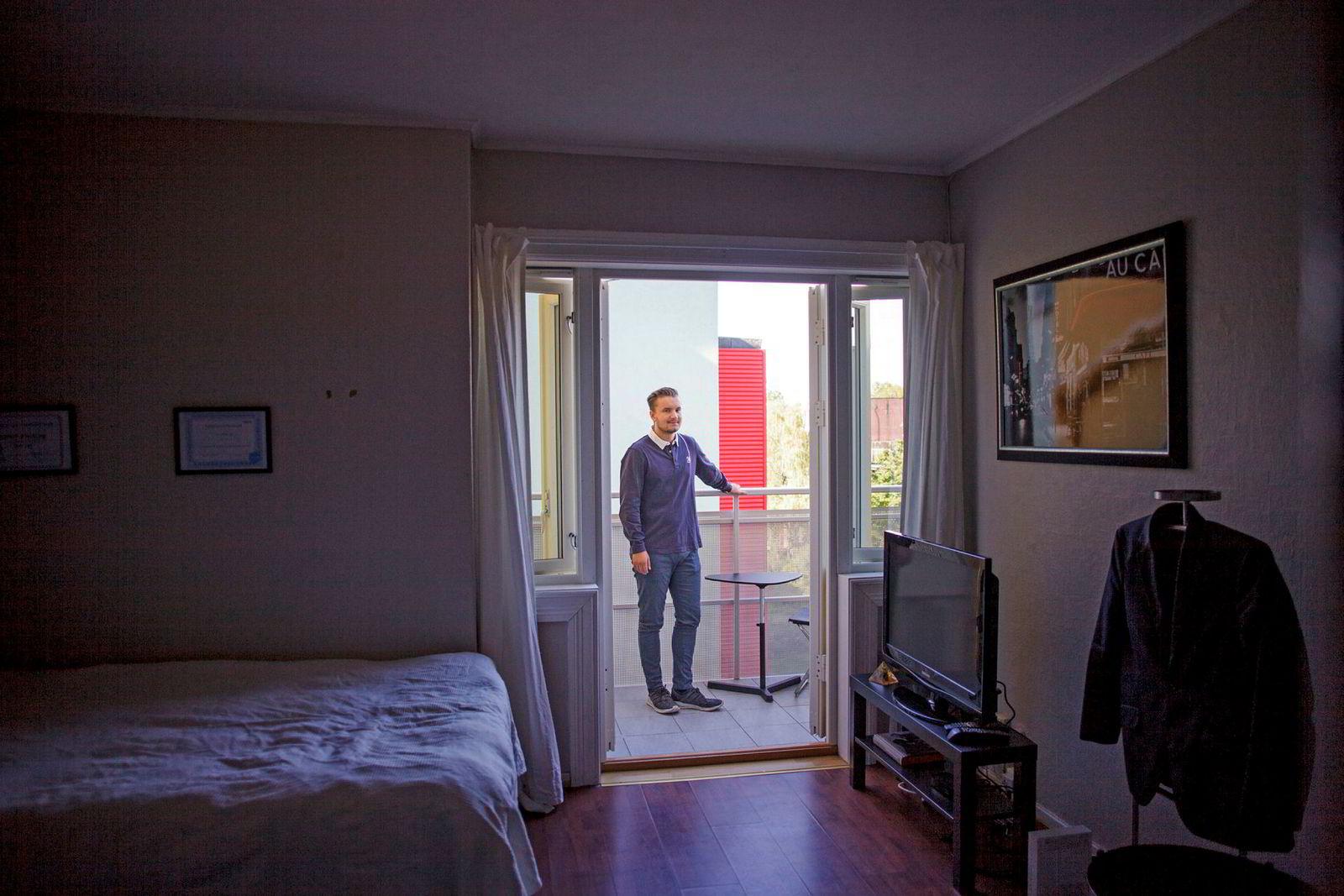 Andreas Klønings 28 kvadratmeter store krypinn skal pusses opp etter hvert. Han satser på å gjøre små endringer som gir leiligheten et kosmetisk løft, uten at han må ut med de helt store summene.