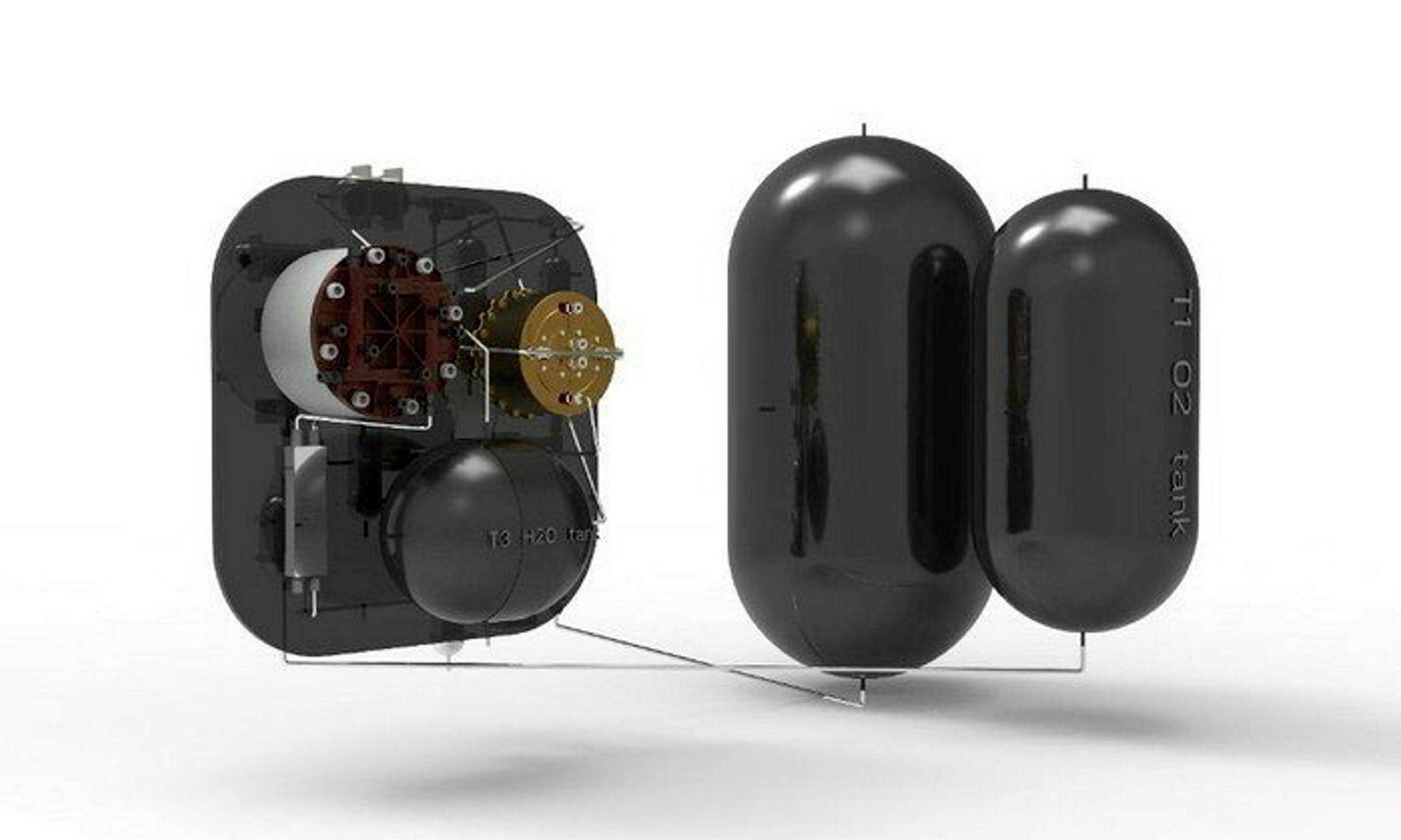 Brenselcellen er et lukket sløyfesystem der en solenergidrevet elektrolysator produserer hydrogen og oksygen fra vann. Enegien lagres for senere bruk om natten. I løpet av månenatten tilføres hydrogen og oksygen brenselcellen for å generere elektrisk kraft og varme. Vann er avfallsproduktet. Dette vannet blir gjenvunnet og gjenbrukt når den beskrevne syklusen gjentas.