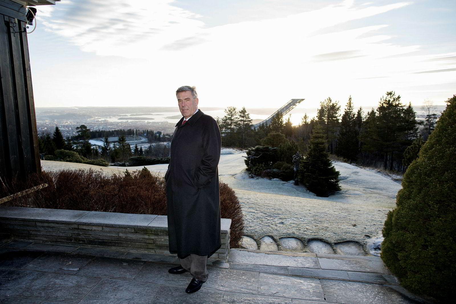 Stein Erik Hagen har utsikt mot Holmenkollbakken hjemme. Nå investerer han over én milliard kroner i et annet vinteranlegg, på Lørenskog.