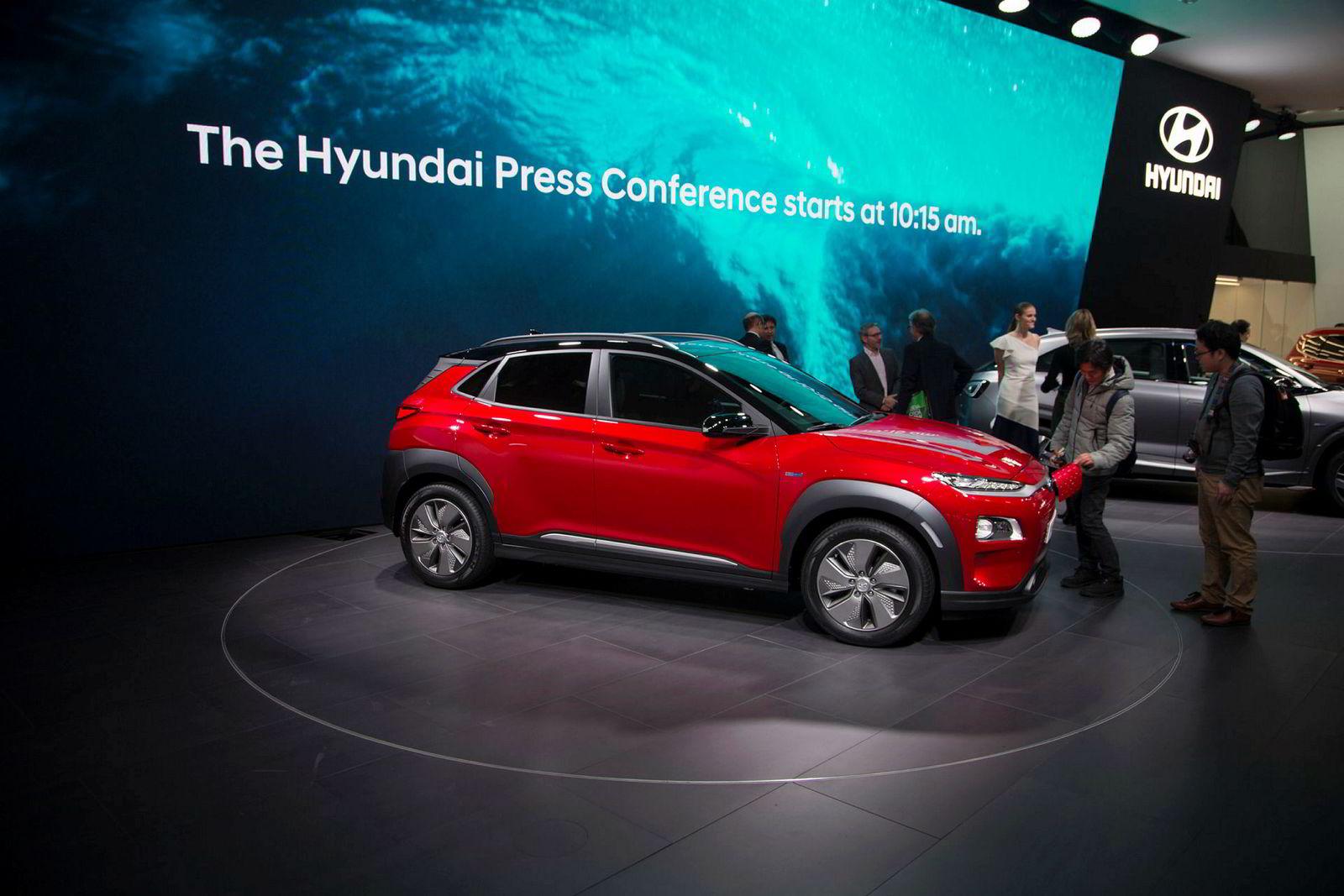 Hyundai Kona electric ble presentert i Genève i år.