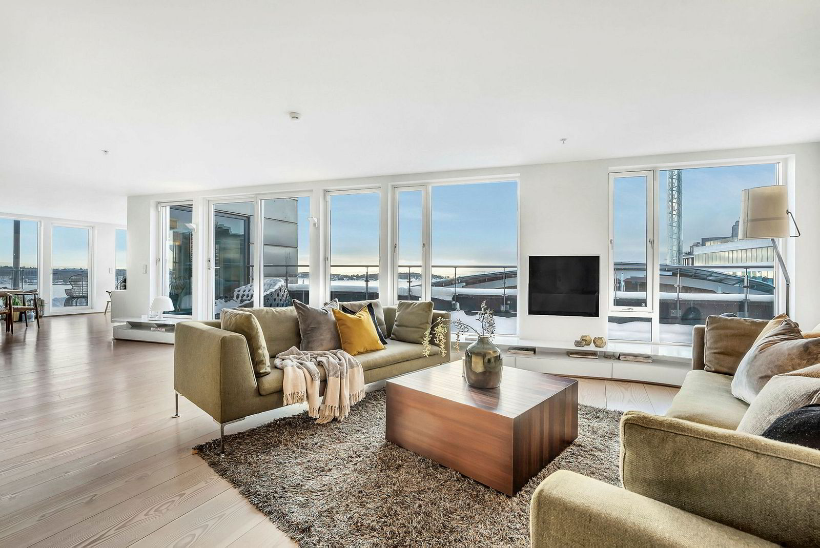 Utsnitt fra interiøret i leiligheten