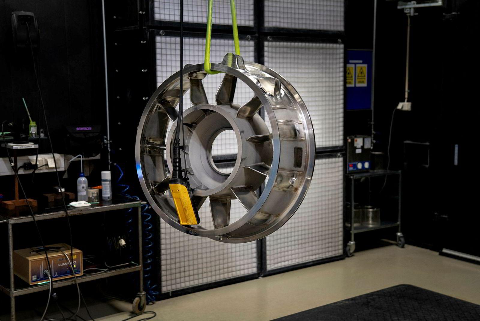 Ved GKN Aerospace produseres komplekse komponenter til flymotorer og gassturbiner for verdens største flymotorprodusenter.