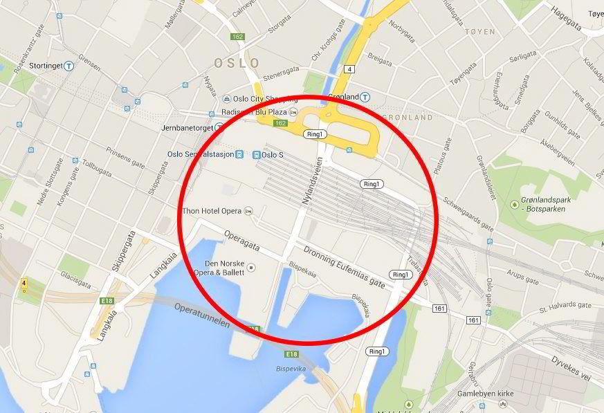 BORTE: Trafikkmaskinen i Bjørvika er borte og veiene som skal ta unna trafikken gir ingen kapasitetsøkning. Det bekrefter Statens Vegvesen.