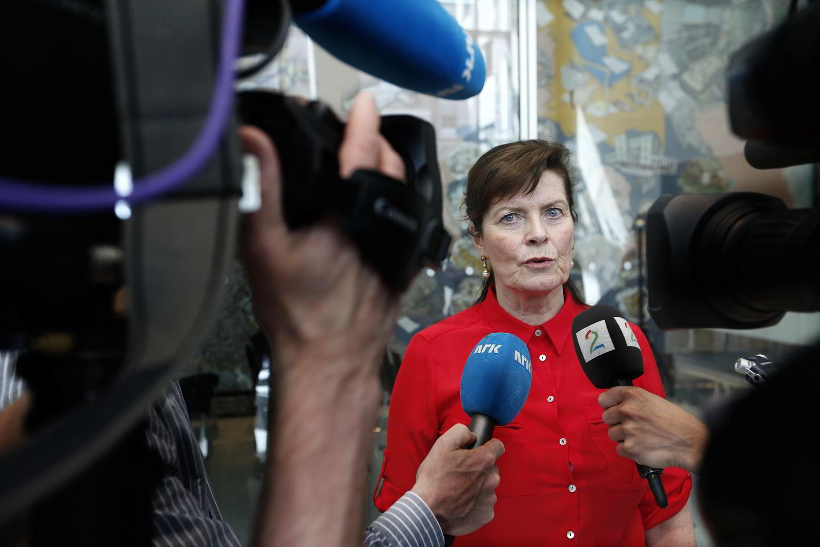 Leder Merete Furuberg i Norsk Bonde- og Småbrukarlag. Foto: Vidar Ruud /