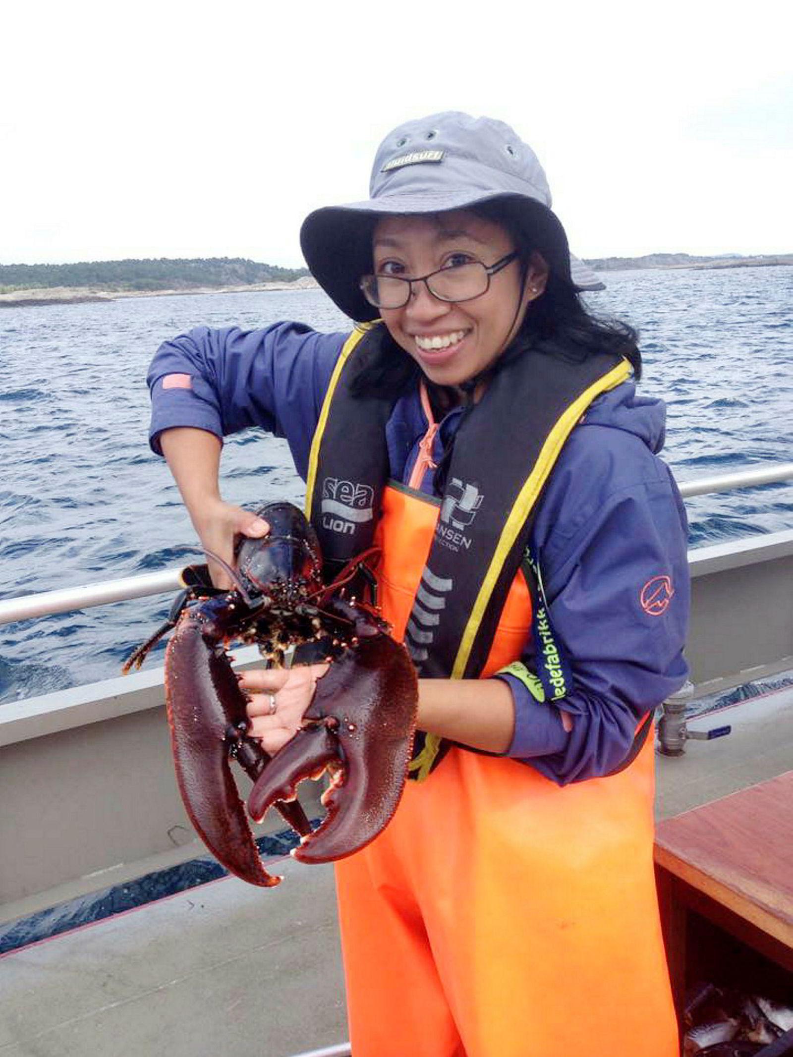 Portia Nillos Kleiven er hummerforsker ved Havforskningsinstituttet.