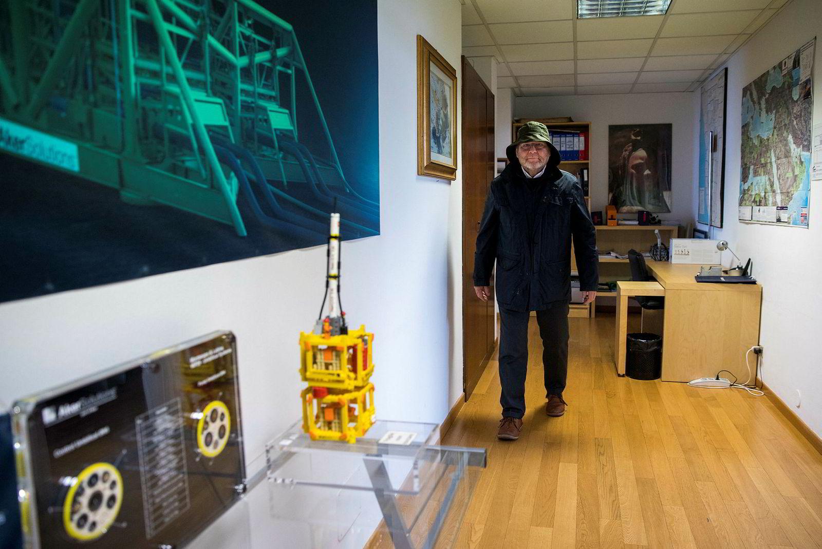 Petter Johannesen på Aker Solutions kontor i Milano.