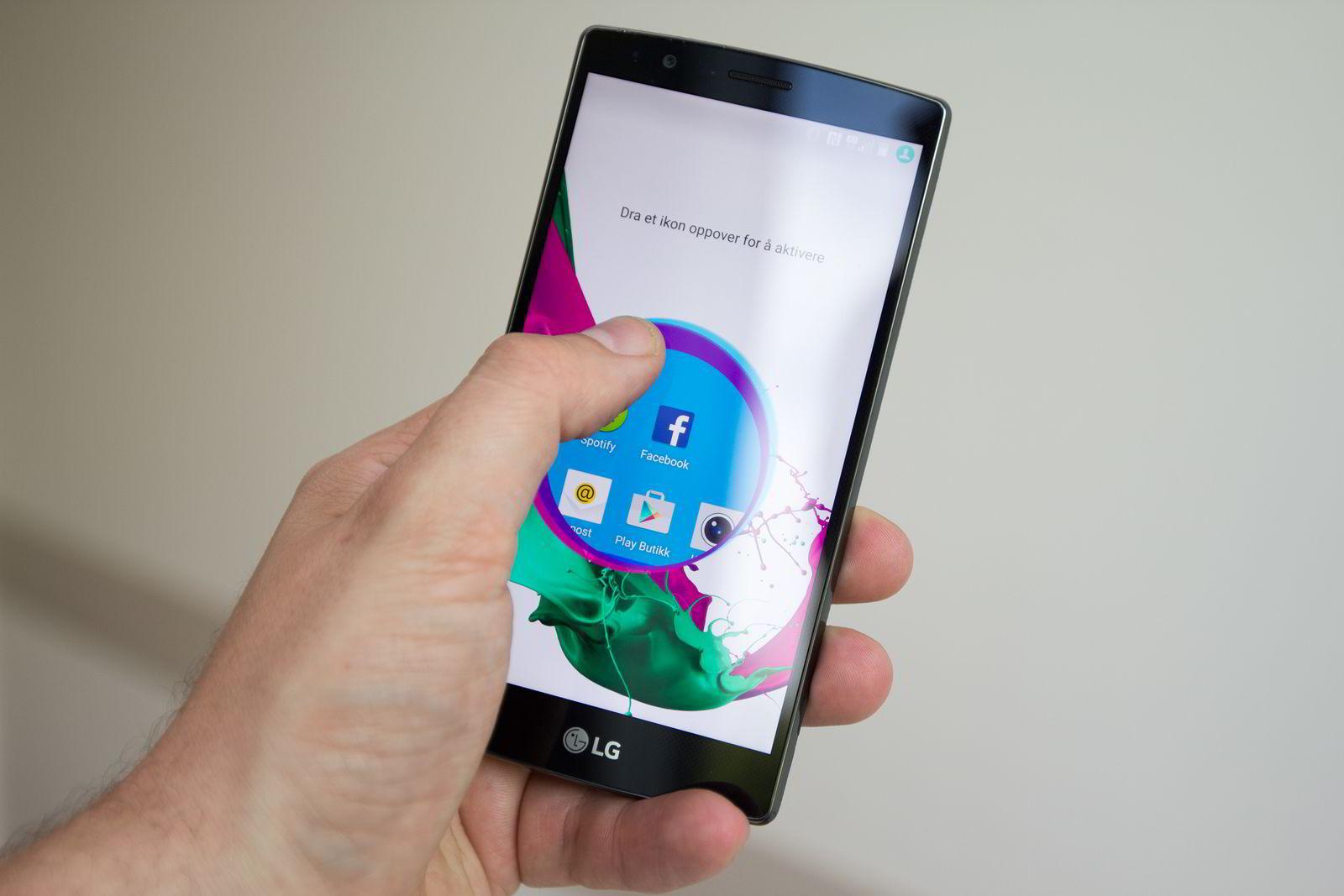 LG G4 er for stor til å brukes med én hånd i mange tilfeller.