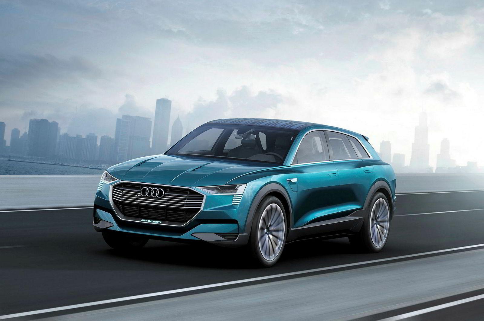 Skal man tro Audis elbilsjef, får neppe E-Tron tilhengerfeste. Dette er konseptbilen E-tron Concept.