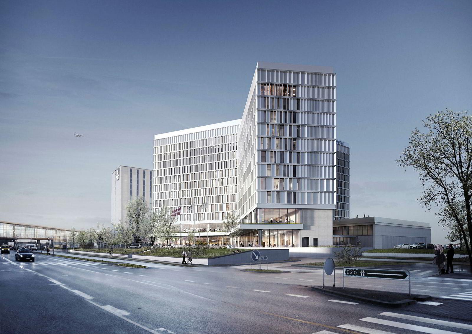 Om snaut to år åpner Comfort Hotel Copenhagen med 500 rom like ved Clarion-hotell på Kastrup. Petter A. Stordalens hotellkjede har signert avtaler for åpning av 19 nye hoteller med over 5000 rom frem til 2021.