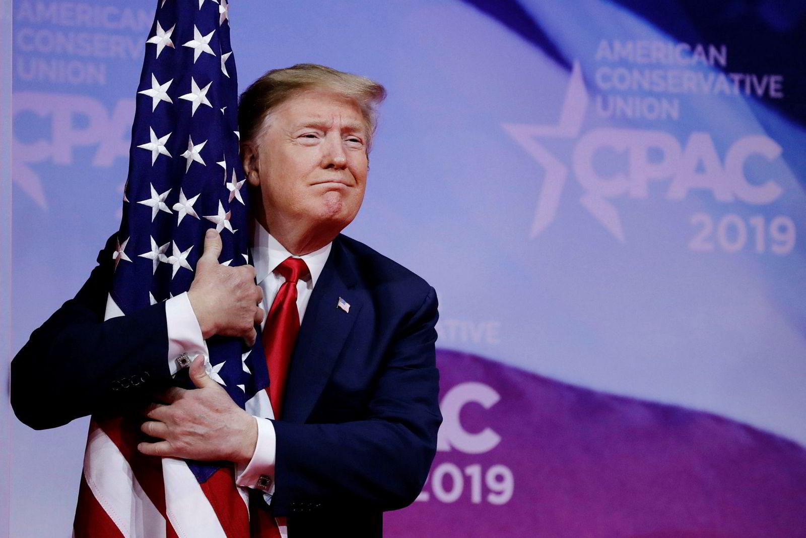 President Donald Trump posisjonerer seg for gjenvalg til neste år.