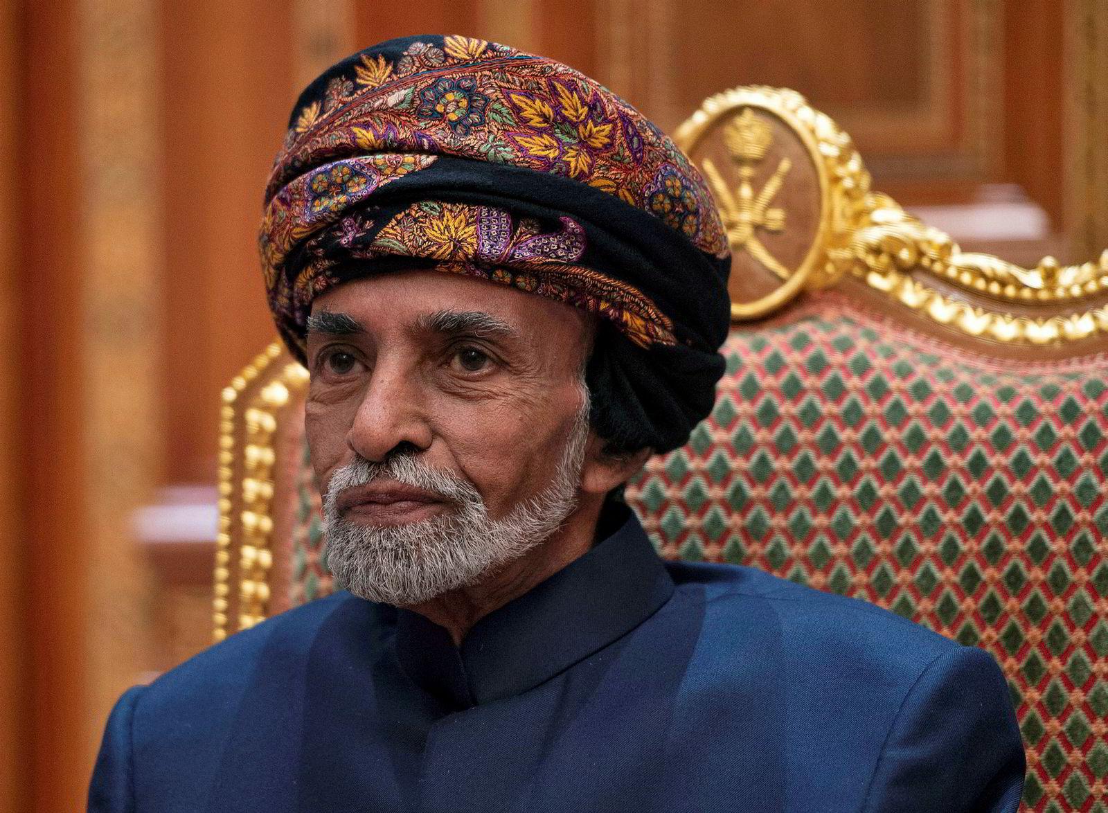 Avdøde sultan Qaboos bin Said al-Said av Oman.