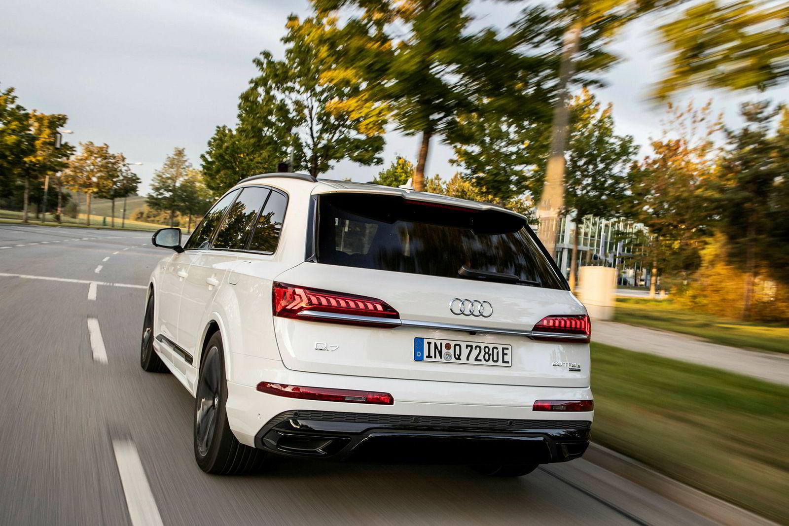 Audi Q7 bytter ut diesel med bensinmotor i den ladbare hybrid-varianten.