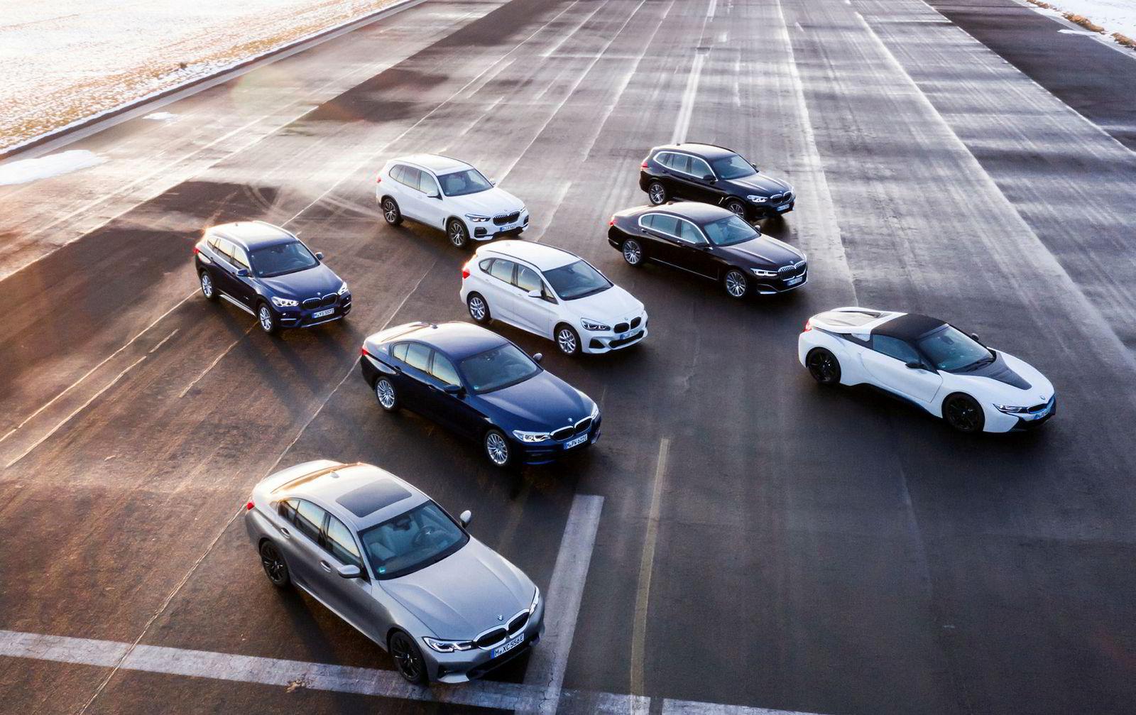 Her er BMWs ladbare modeller.